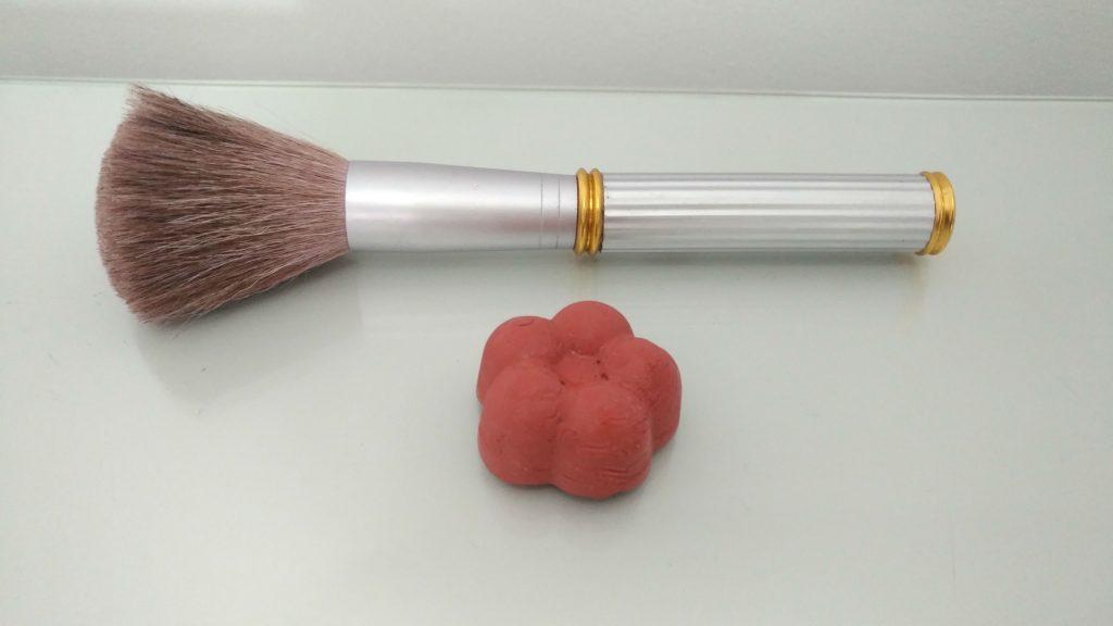 colorete sólido natural casero
